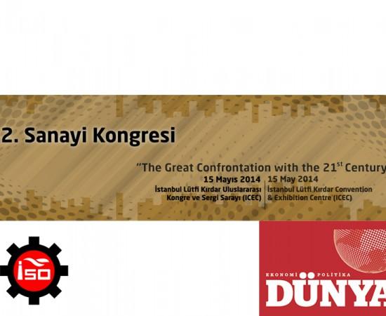 12. Sanayi Kongresi - 2014 - Canlı Ses Metin Deşifresi
